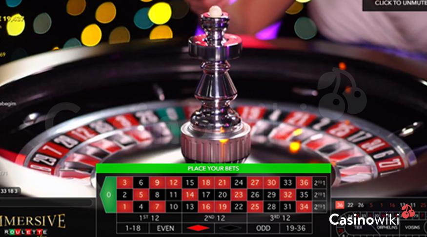 Immersive roulette wiel