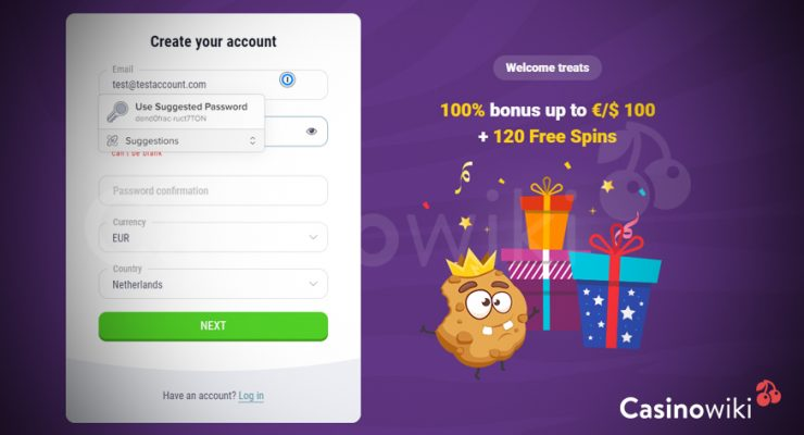 Maak een account aan bij een online casino