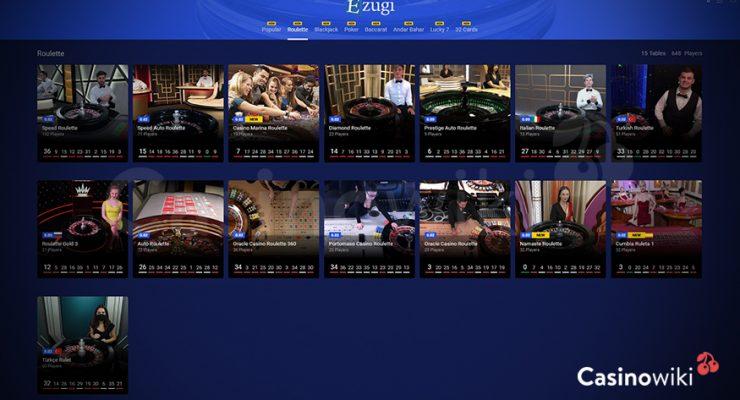 Hoe kies je een spel in een Live Casino?