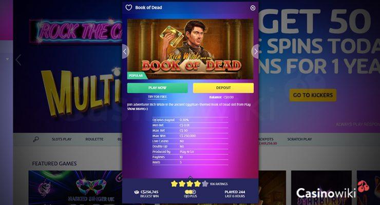 Hoe ontvang je een PlayOJO Casino Bonus