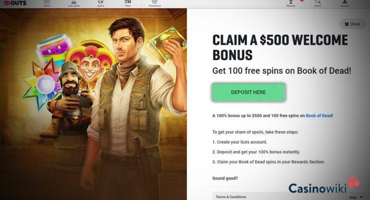 Hoe ontvang je een Guts Casino Bonus