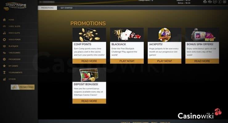 Hoe ontvang je een Intertops Casino Bonus