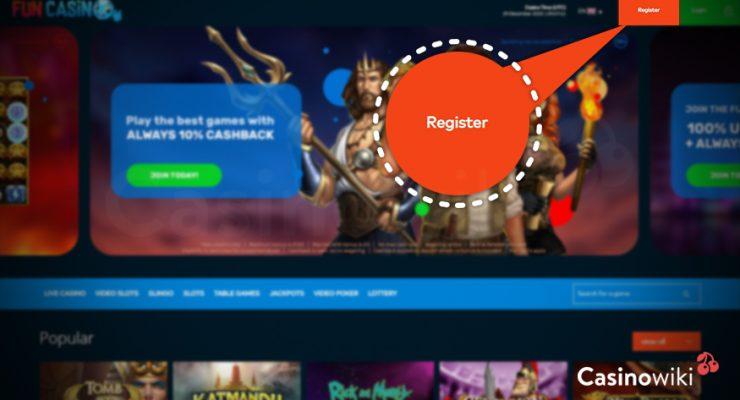 Hoe registreer je bij Fun Casino