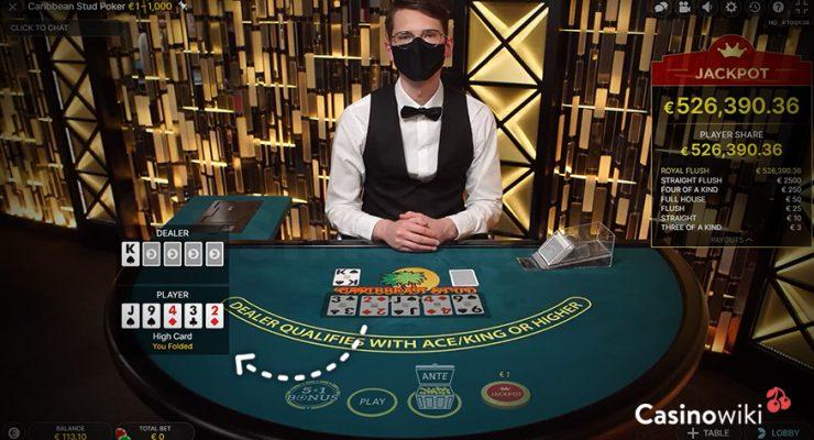 Fold in Caribbean Stud Poker