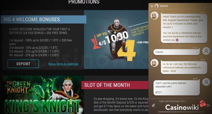Klacht over een online casino